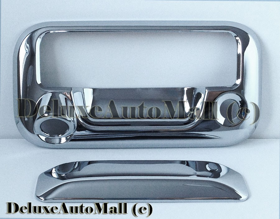 Chrome Tailgate Handle Cover w Camera Cut Out for Ford F150 F250 F350 Superduty