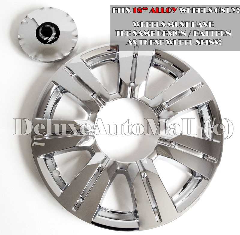 Cadillac SRX 2010 2013 Chrome Wheel Skins Hubcaps For 1