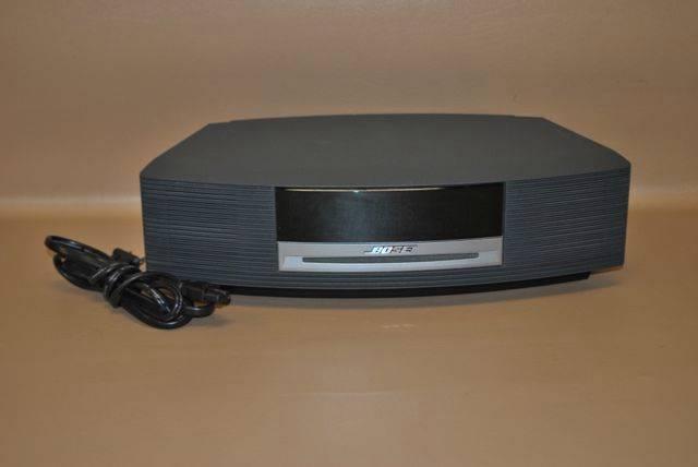 bose wave radio am fm cd player alarm clock music system awrcc1 black 7 30477 ebay. Black Bedroom Furniture Sets. Home Design Ideas