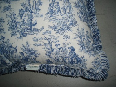 Wedgewood Blue Throw Pillows : Waverly Wedgewood Blue Toile Country Life 20X20