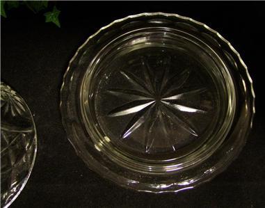 vintage pressed depression glass round dome lid butter dish pinwheel pattern ebay. Black Bedroom Furniture Sets. Home Design Ideas
