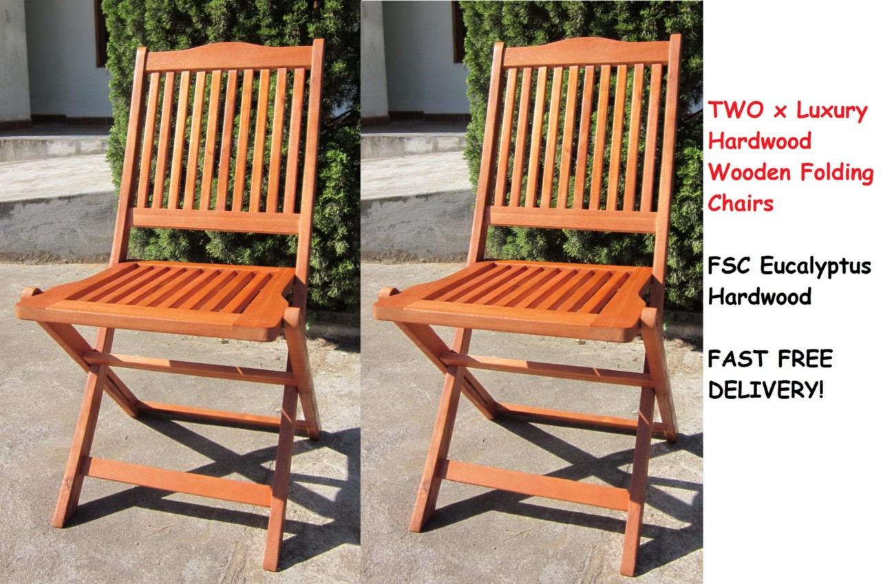 Wooden Garden Chair ~ Hardwood wooden folding round garden patio table