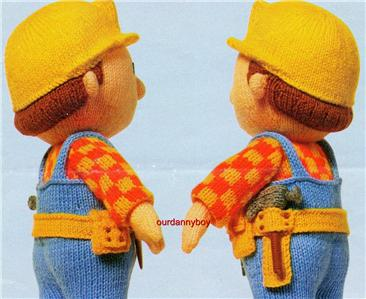BOB THE BUILDER TOY KNITTING PATTERN   KNITTING PATTERN