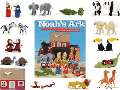 EASTER~ Toy Doll Knitting Pattern~ NOAH'S ARK & ANIMALS~ Carry Around