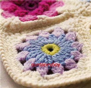 Crochet Daisy Flower Blanket Pattern : Crochet Pattern~ROSE & DAISY FLOWER MOTIF THROW/BLANKET