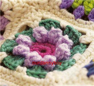 Crochet Daisy Flower Blanket Pattern : Crochet Pattern~ROSE & DAISY FLOWER MOTIF THROW/BLANKET eBay