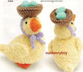 ALAN DART~ Toy Doll Knitting Pattern ~ EASTER BONNET PARADE DUCKLINGS