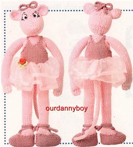 Knitting Pattern Ballerina Doll : CHILDRENS TV CHARACTER~Toy Doll Knitting Pattern~ANGELINA ...