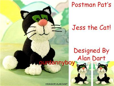 Knitting Pattern For Jess The Cat : ALAN DART ~ Toy Doll Knitting Pattern ~ POSTMAN PAT CHARACTER ~ JESS the CAT!...