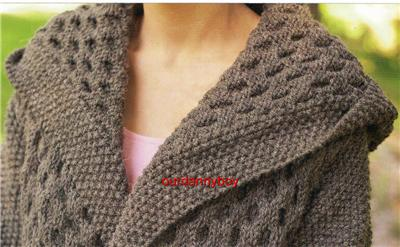 ROWAN Ladies Chunky Knitting Pattern~Cable & Moss Stitch TEXTURED HOODED ...