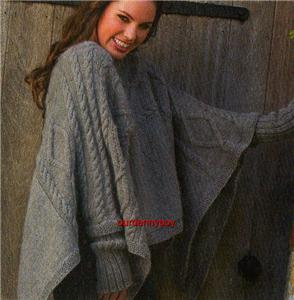 CABLED PONCHO PATTERN   Patterns Gallery