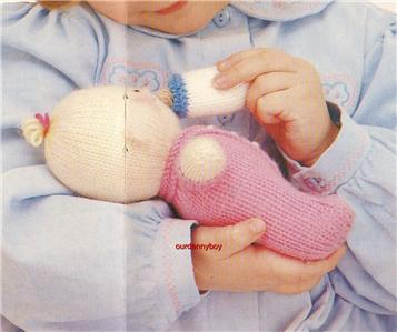 ALAN DART~Toy Doll Knitting & Sewing Pattern~PERFECT PLAYMATES~ KNITTED N...