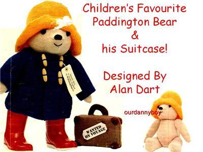 alan dart toy doll knitting pattern paddington bear case 19 teddy bear