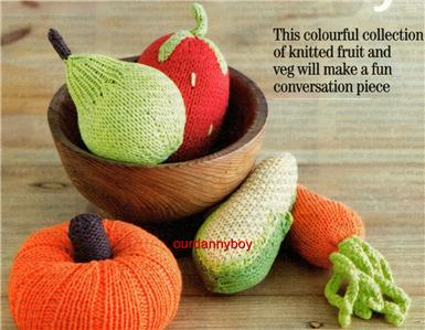 Knitting Pattern Central Food : KNITTING PATTERNS FOR FRUIT AND VEGETABLES   KNITTING PATTERN