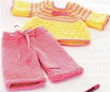 GIRLS Toy Knitting Pattern~JEMIMA DOLL & 2 OUTFITS~Clothes~Teddy Bear~Bag...