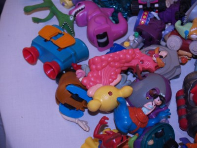 This is huge lot of kids meals toys over 12 Lbs, and they are in good