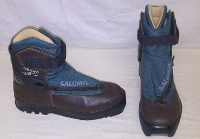 Salomon Greenland Back Cross Country Ski Boots SNS Size 44 EUR 9 5 US