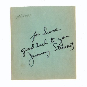 Jimmy Stewart Autograph Movie Star From Vintage Autograph Book Super Condition Ebay