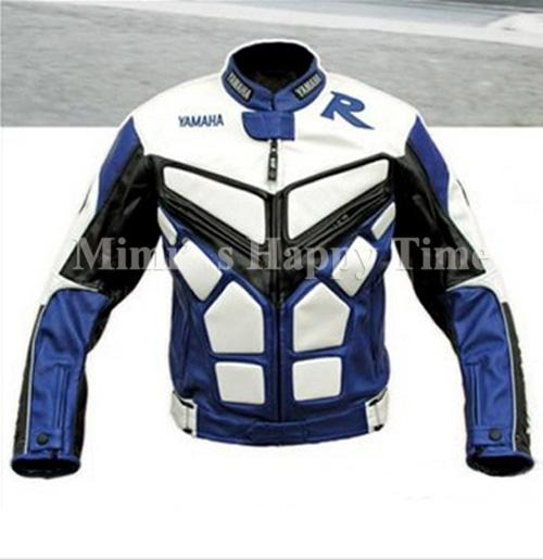 Yamaha yzf r1 r6 motorcycle pu leather jacket motogp red for Yamaha r1 motorcycle jackets
