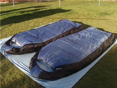 how to connect 2 caribee jumbo sleeping bags