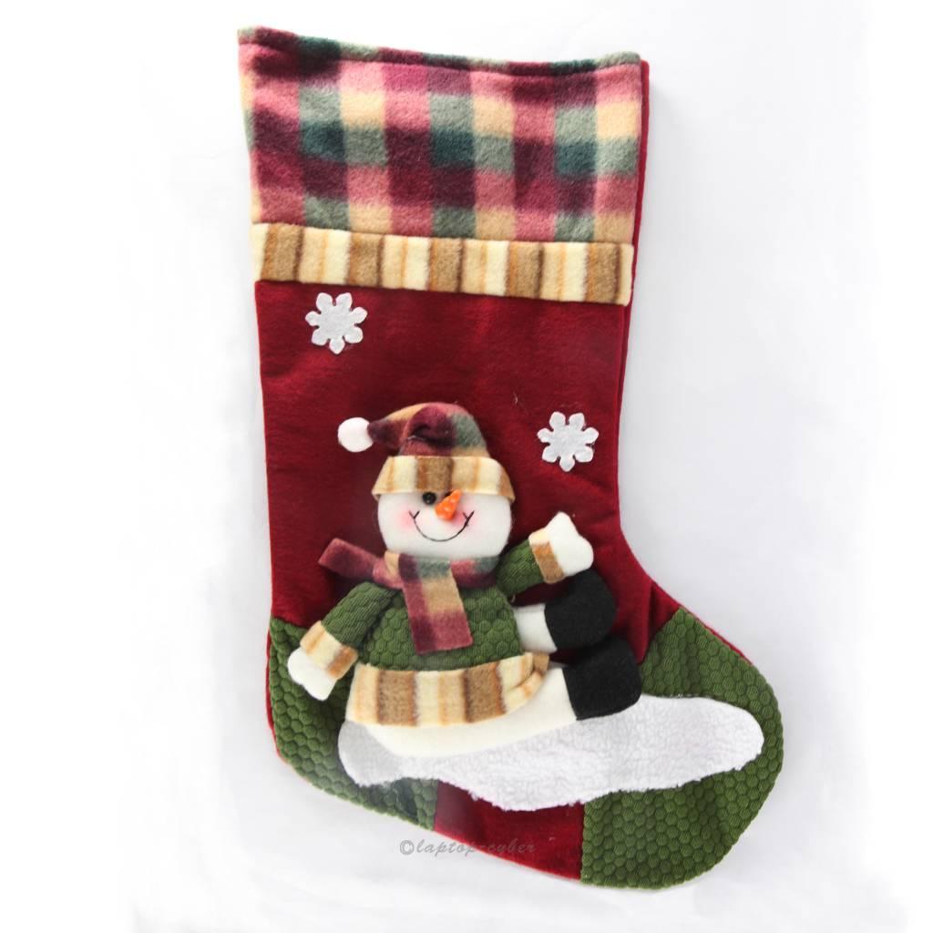 Like snowman christmas stocking holder woman
