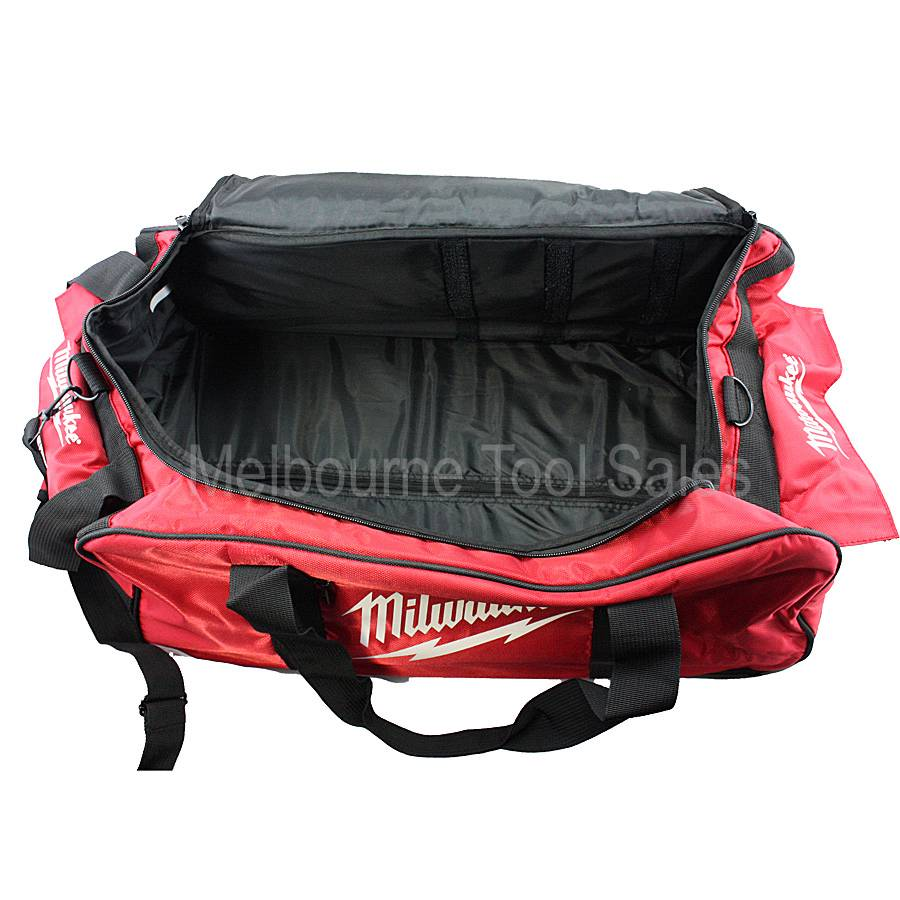 milwaukee large contractor rolling wheeled tool bag for