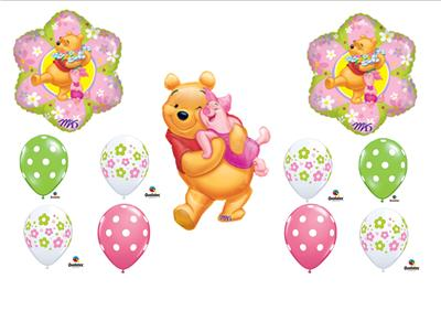 Winnie The Pooh Piglet Birthday Balloon Party Supplies