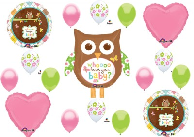 whooo loves you baby shower balloon decorating kit