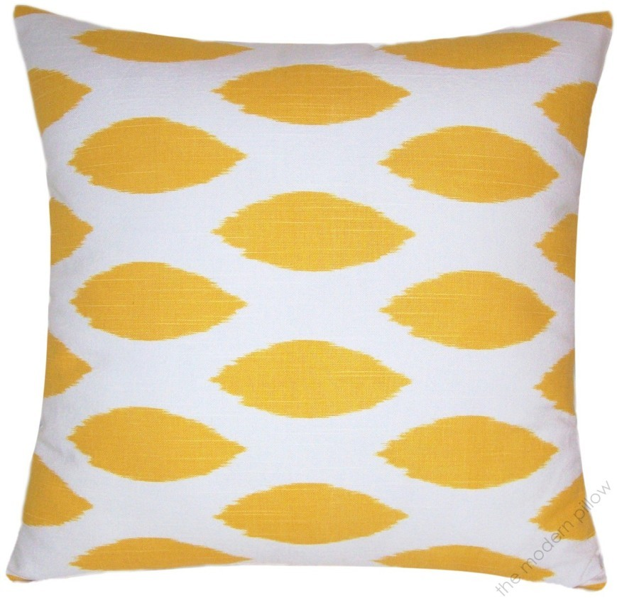 20 Sq Mustard Yellow Chipper Decorative Throw Pillow Cover