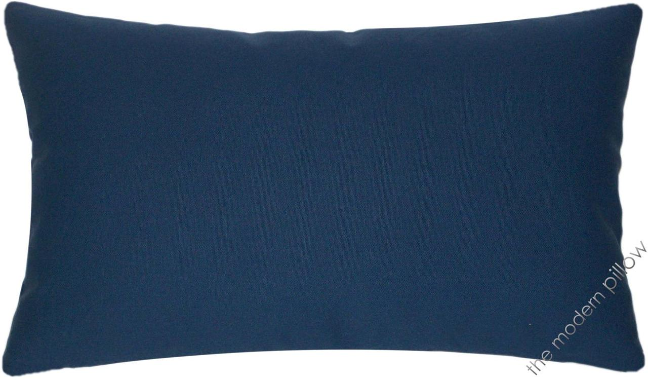 Navy Blue Decorative Pillow Covers : Navy Blue Solid Decorative Throw Pillow Cover/Cushion Cover/Cotton/12x20