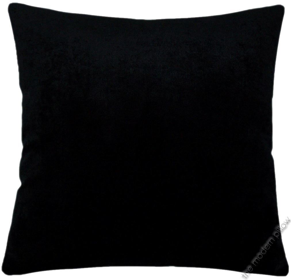 Black Velvet Solid Decorative Throw Pillow Cover / Cushion Cover 20x20