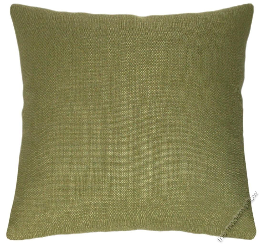 Olive Green Solid Metro Linen Decorative Throw Pillow Cover/Cushion Cover 20x20
