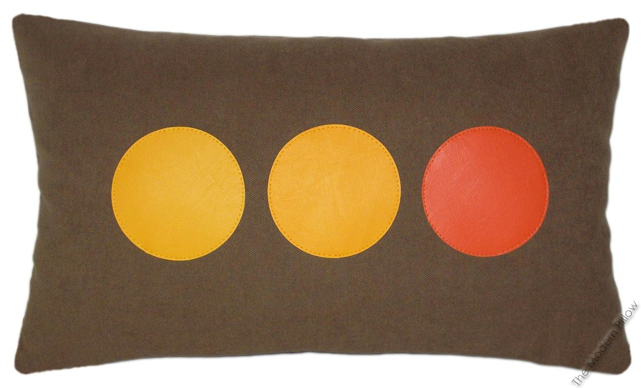 Throw Pillows 20 X 12 Yellow : Orange/Yellow/Brown Rounds Decorative Throw Pillow Cover/Cushion Cover 12x20