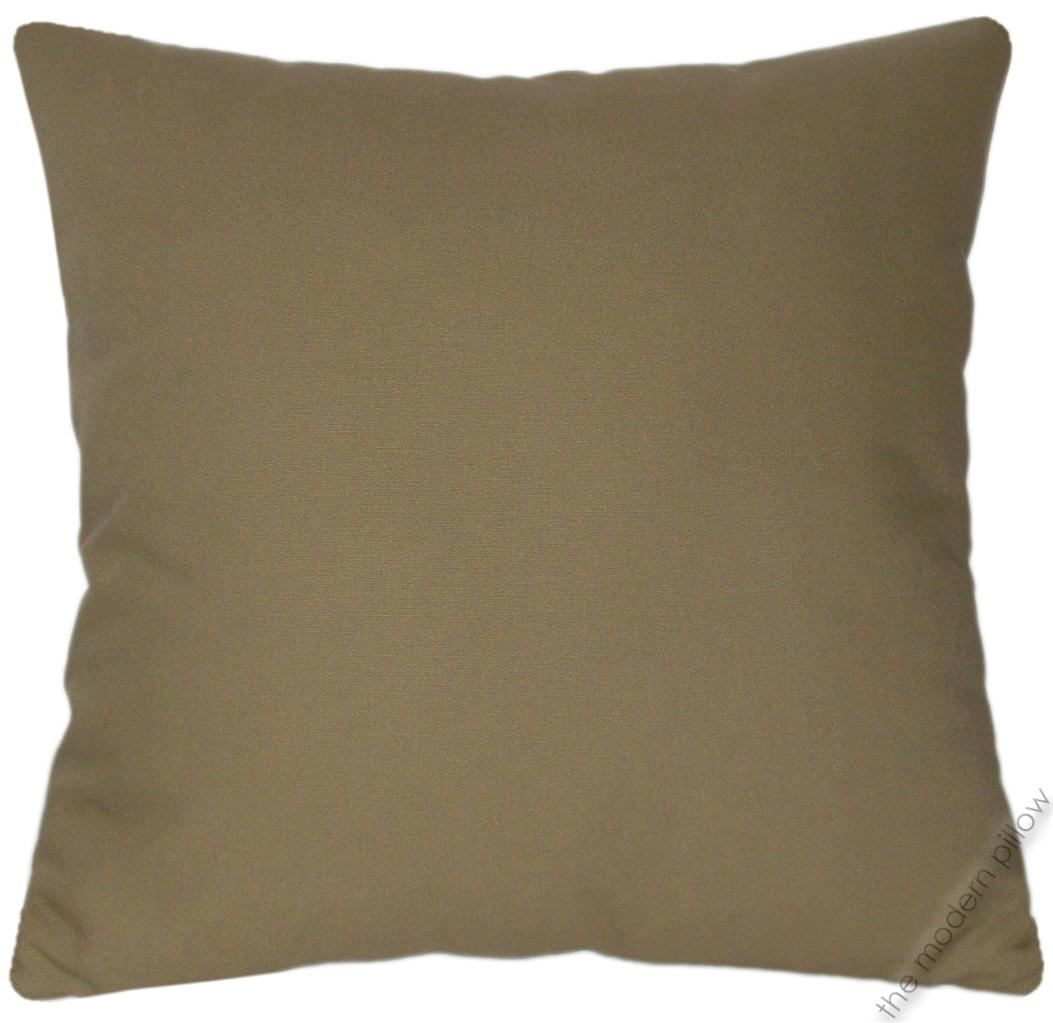 Khaki Green Solid Cotton Decorative Throw Pillow Cover/Cushion Cover 20x20