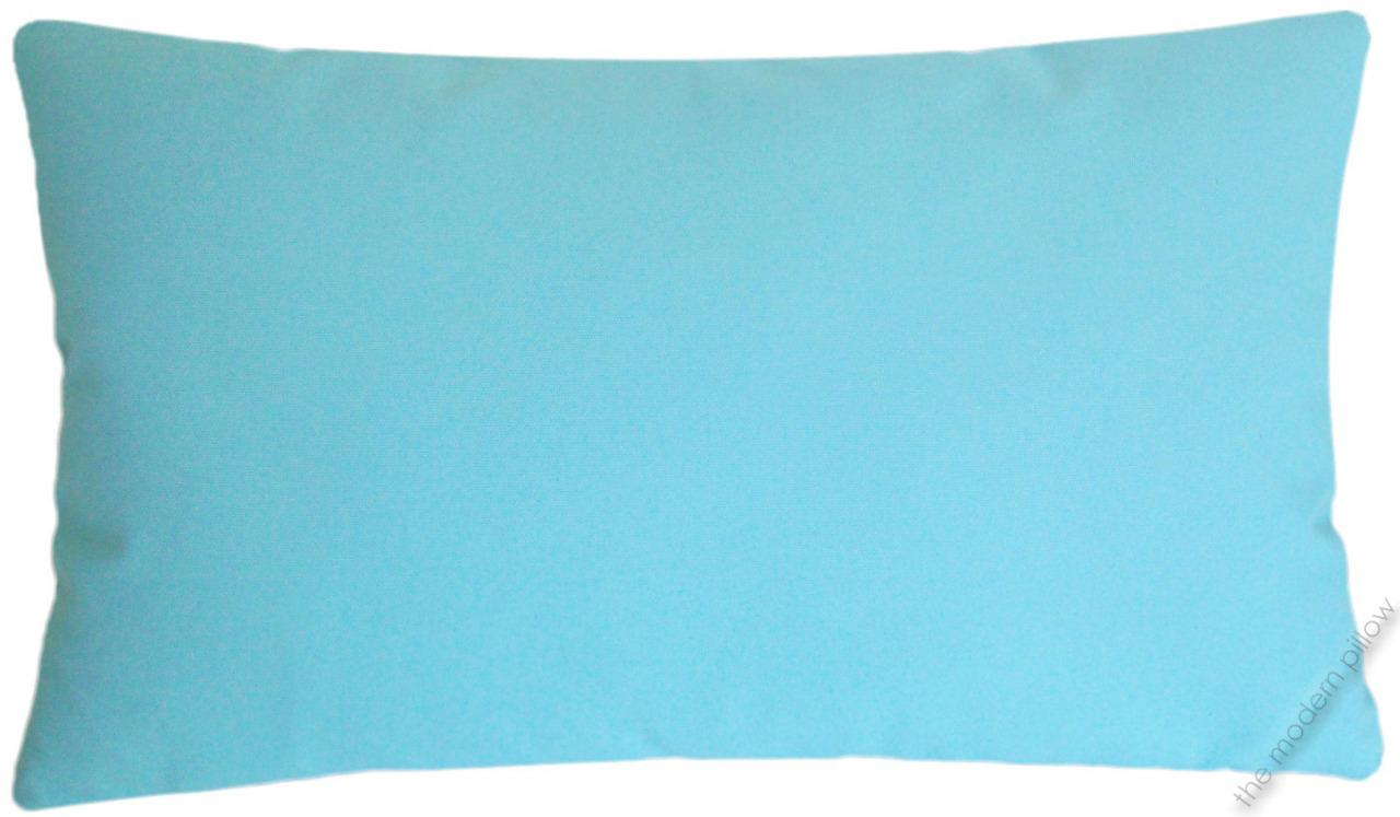 Sky Blue Throw Pillow : Sky Blue Solid Decorative Throw Pillow Cover/Cushion Cover/Cotton/12x20