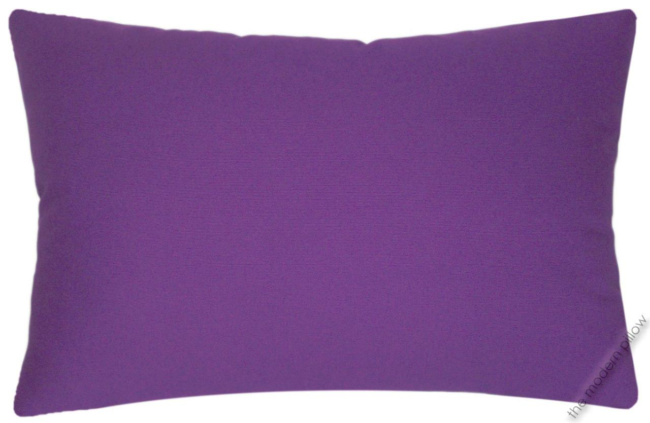 Solid Purple Decorative Pillows : Purple Violet Solid Decorative Throw Pillow Cover/Cushion Cover / Cotton 12x18