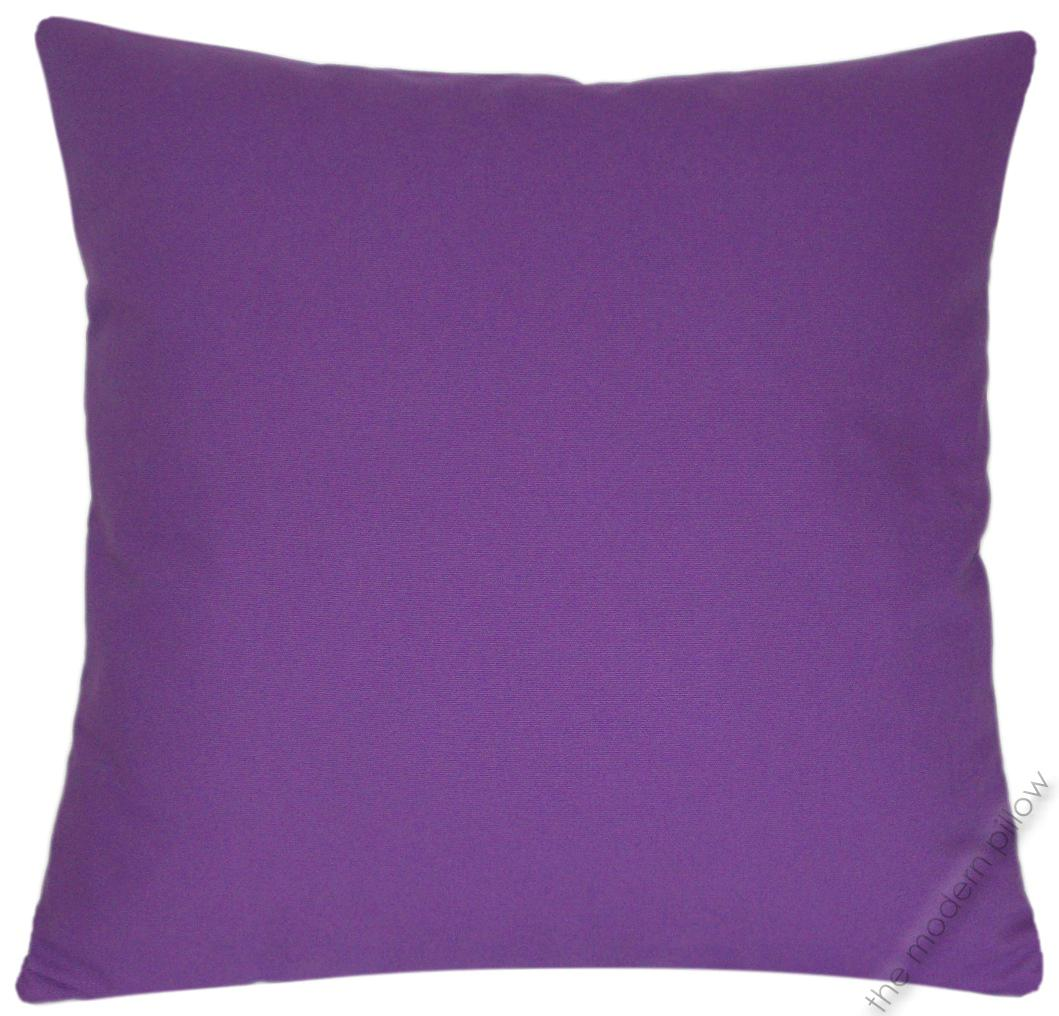 Solid Purple Decorative Pillows : Purple Violet Solid Decorative Throw Pillow Cover/Cushion Cover/Cotton/20x20
