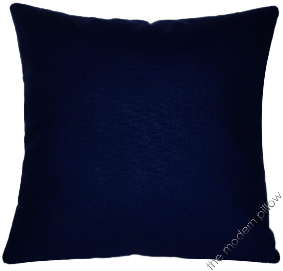 Navy Blue Solid Decorative Throw Pillow Cover/Cushion Cover/Cotton/20x20 eBay