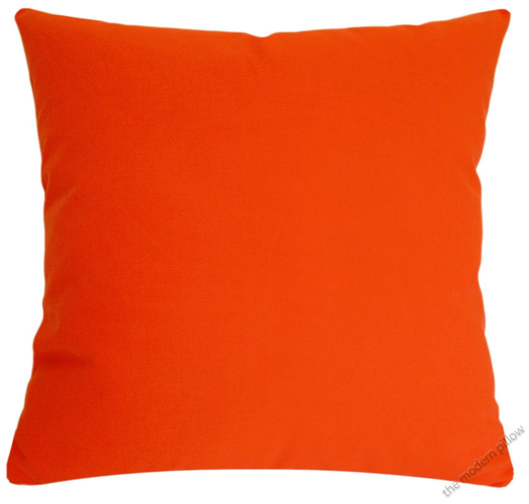 Orange Solid Decorative Throw Pillow Cover / Cushion Cover / Cotton 18x18