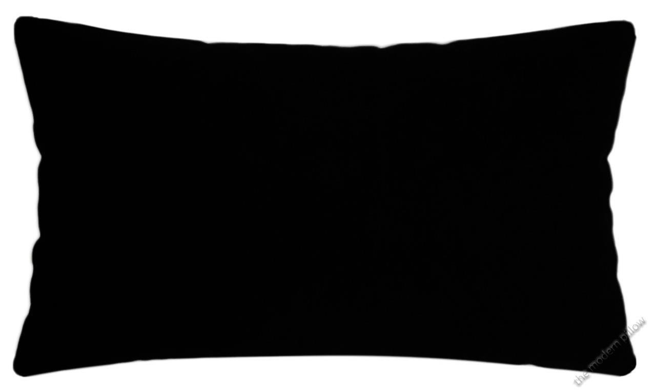 Jet Black Solid Decorative Throw Pillow Cover/Cushion Cover Cotton 12x20