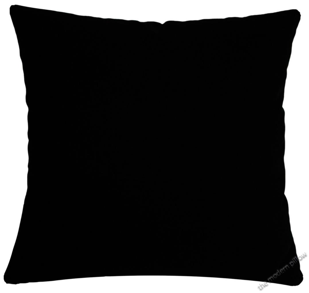 Jet Black Solid Decorative Throw Pillow Cover / Cushion Cover/ Cotton 18x18
