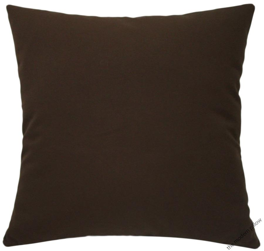 Organic Cotton Throw Pillow Inserts : Organic Chocolate Brown Decorative Throw Pillow Cover/Cushion Cover/Cotton/20x20 eBay