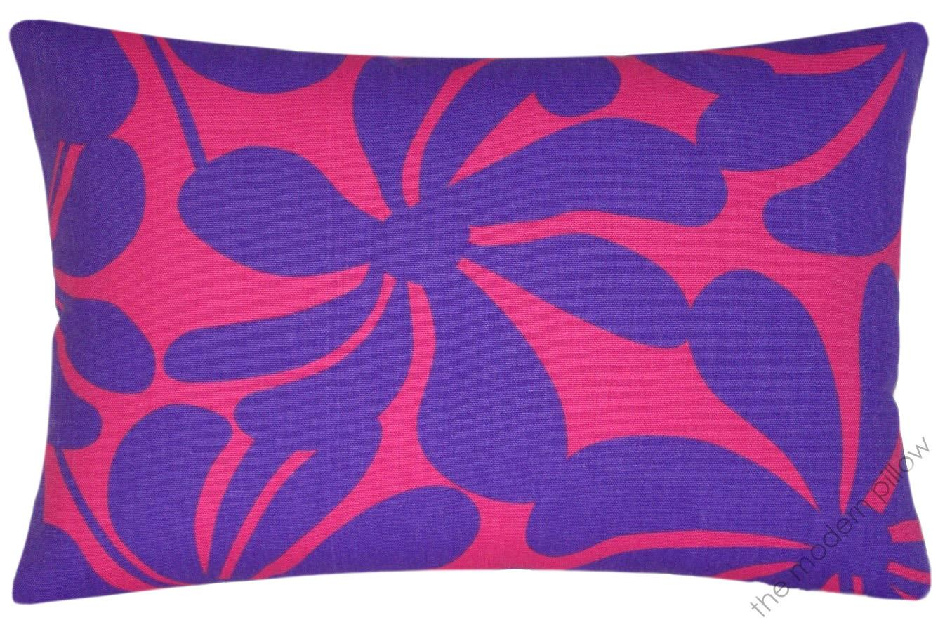 Pink/Purple Twist decorative throw pillow cover/cushion cover cotton 12x18