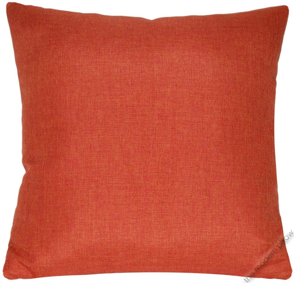 Throw Pillow Covers Linen : Orange Cosmo Linen Decorative Throw Pillow Cover/Cushion Cover 20x20
