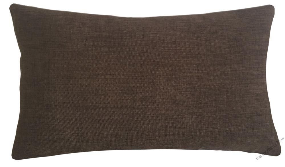 Brown Cosmo Linen Decorative Throw Pillow Cover / Cushion Cover 12x20