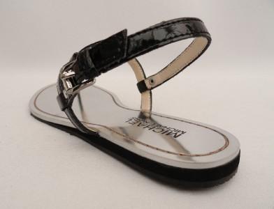 BN Michael Kors Black Leather Sandals UK3.5 EU36.5