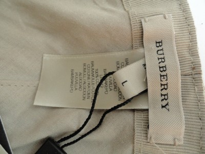 BN Auth BURBERRY Cotton /Leather Military Style Hat / Baseball Cap SZL