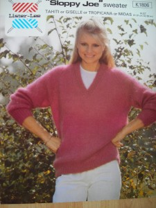 SLOPPY JOE MOHAIR JUMPER KNITTING PATTERN *MOHAIR* eBay