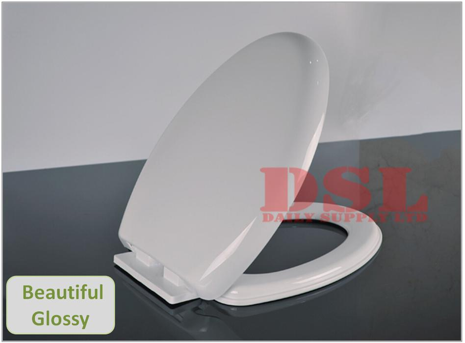 luxury soft slow close white oval toilet seat heavy duty quality with fixings. Black Bedroom Furniture Sets. Home Design Ideas
