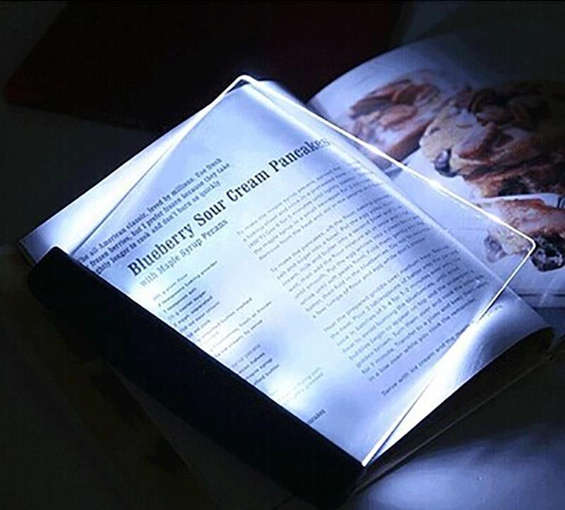 3 led night vision book reading soft light lighting panel. Black Bedroom Furniture Sets. Home Design Ideas